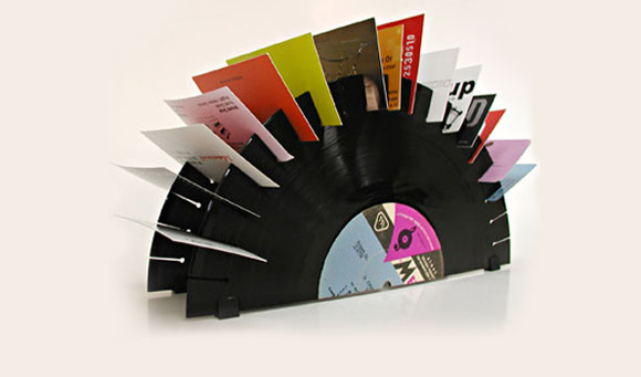 Il vecchio disco in vinile si ricicla ferretticasa - Porta dischi vinile ...